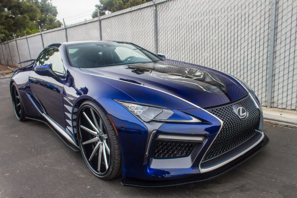 Black Panther Lexus LC 500 on LH-Five Tires
