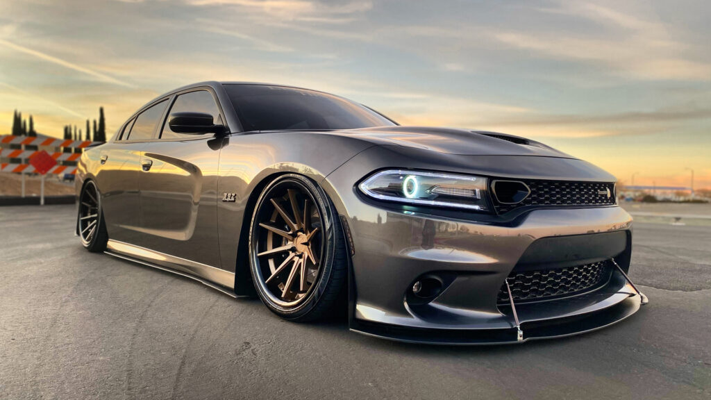 LH-Five Lionhart Tires Bagged Dodge Charger Scat Pack
