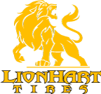 Lionhart Logo - Yellow Lion Text and Lion